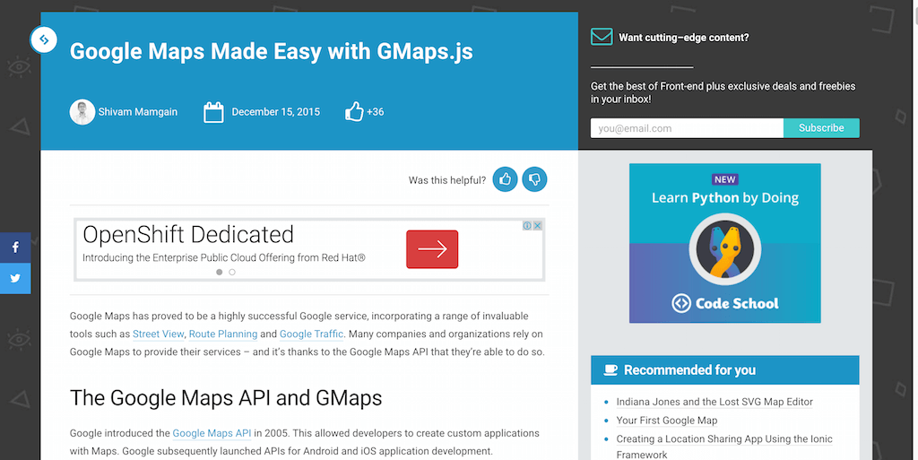 Google Maps Made Easy with GMaps.js
