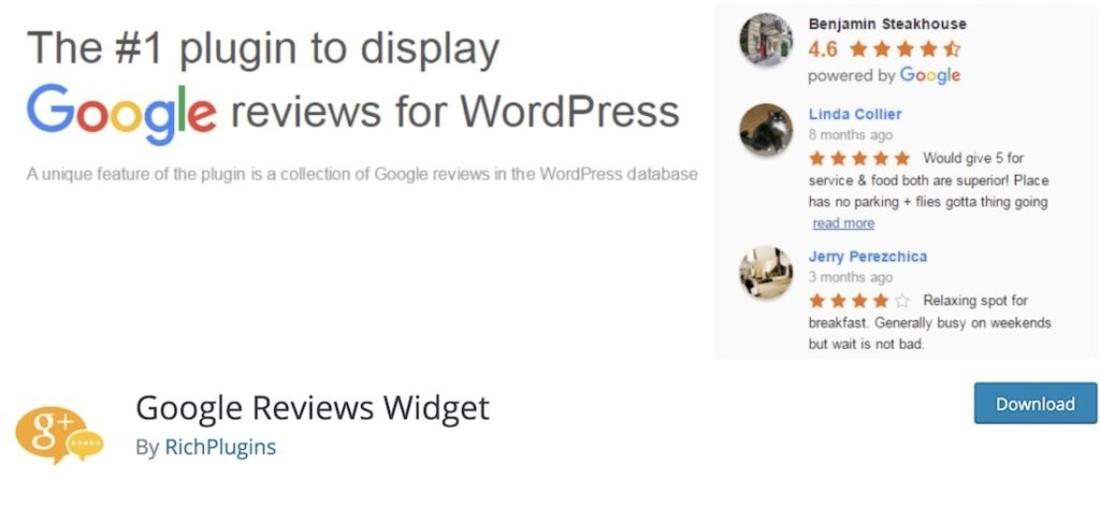 Google Reviews Plugin after setting up the API