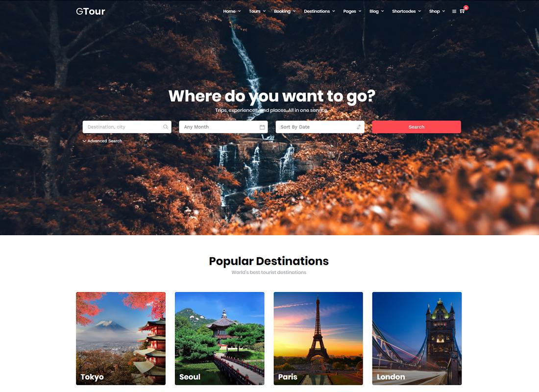 Grand Tour - Tour Travel WordPress for Travel and Tour