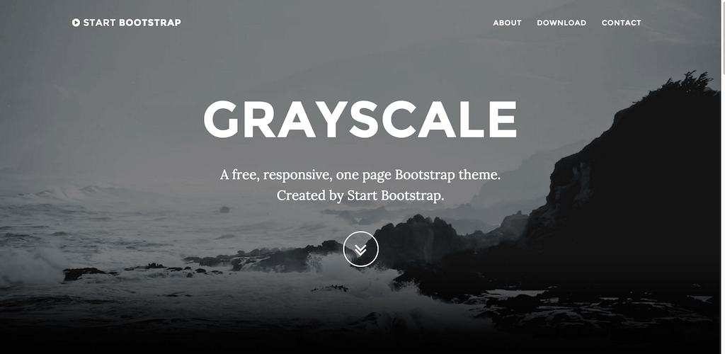 Grayscale Start Bootstrap Theme