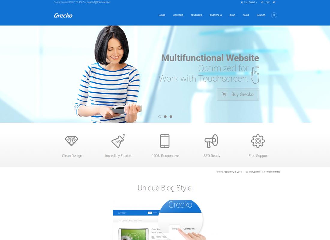 Grecko | A Clean Multipurpose WordPress Theme