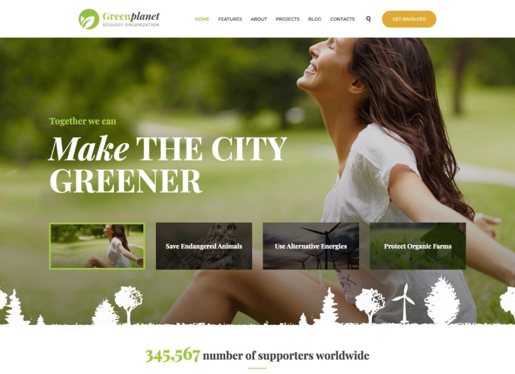 Green Planet | Environmental Non-Profit Organization WordPress Theme