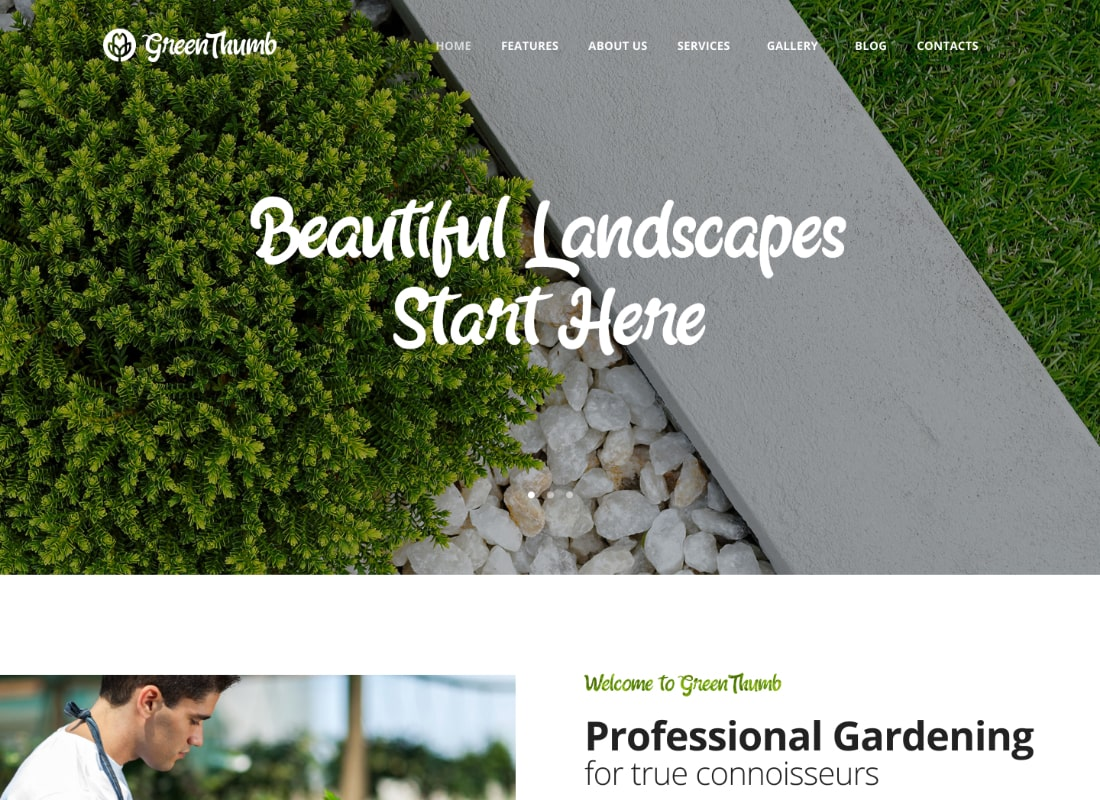 Green Thumb | Gardening & Landscaping Services WordPress Theme