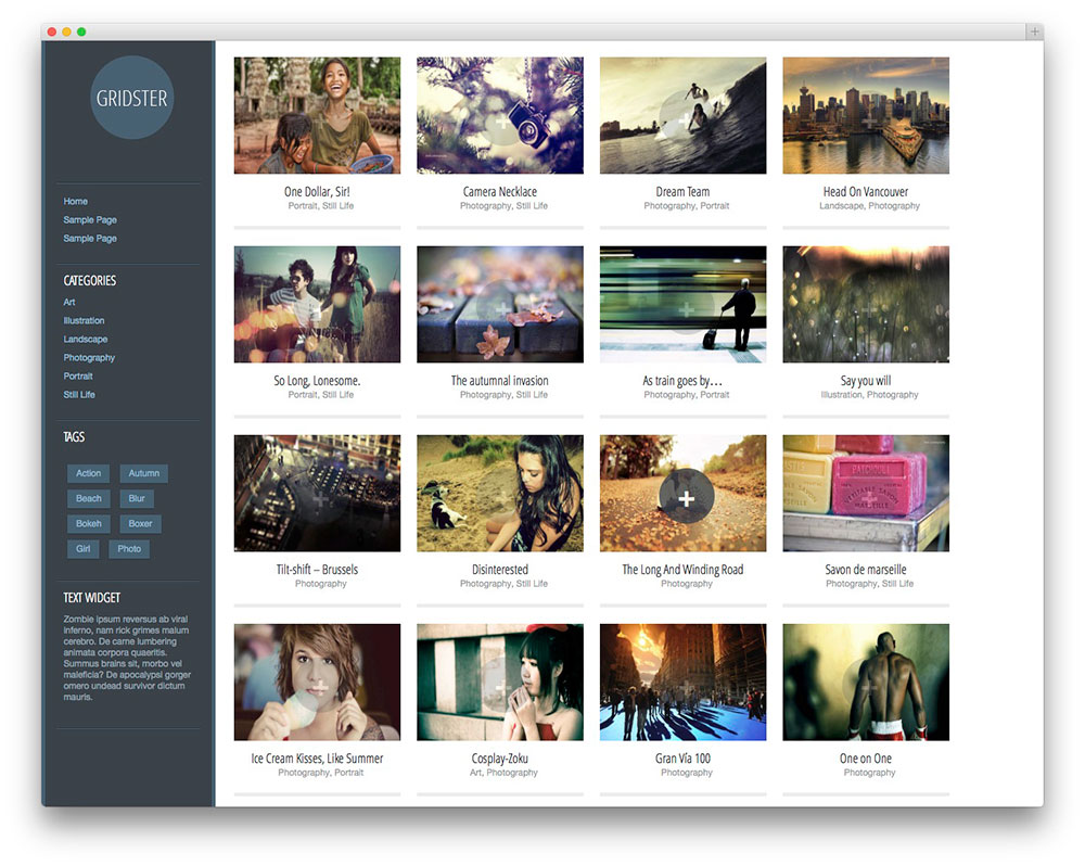 30 beautiful free wordpress portfolio themes 2017 for Art sites for artists