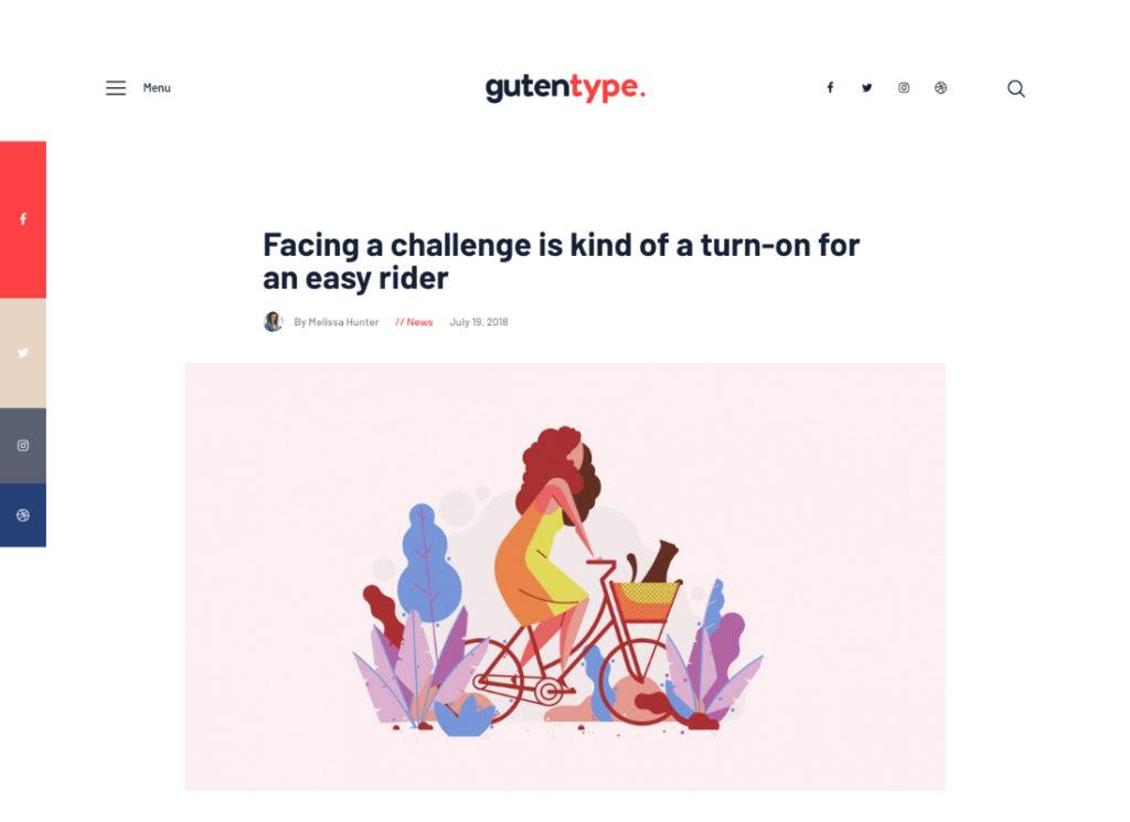 Gutentype | 100% Gutenberg WordPress Theme for Modern Blog + Elementor