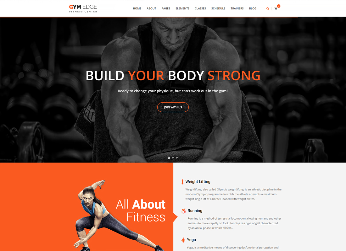 Gym Edge | Gym Fitness WordPress Theme