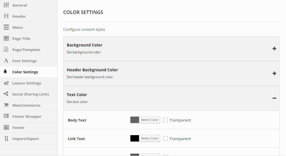 H-Code Theme Review Colors