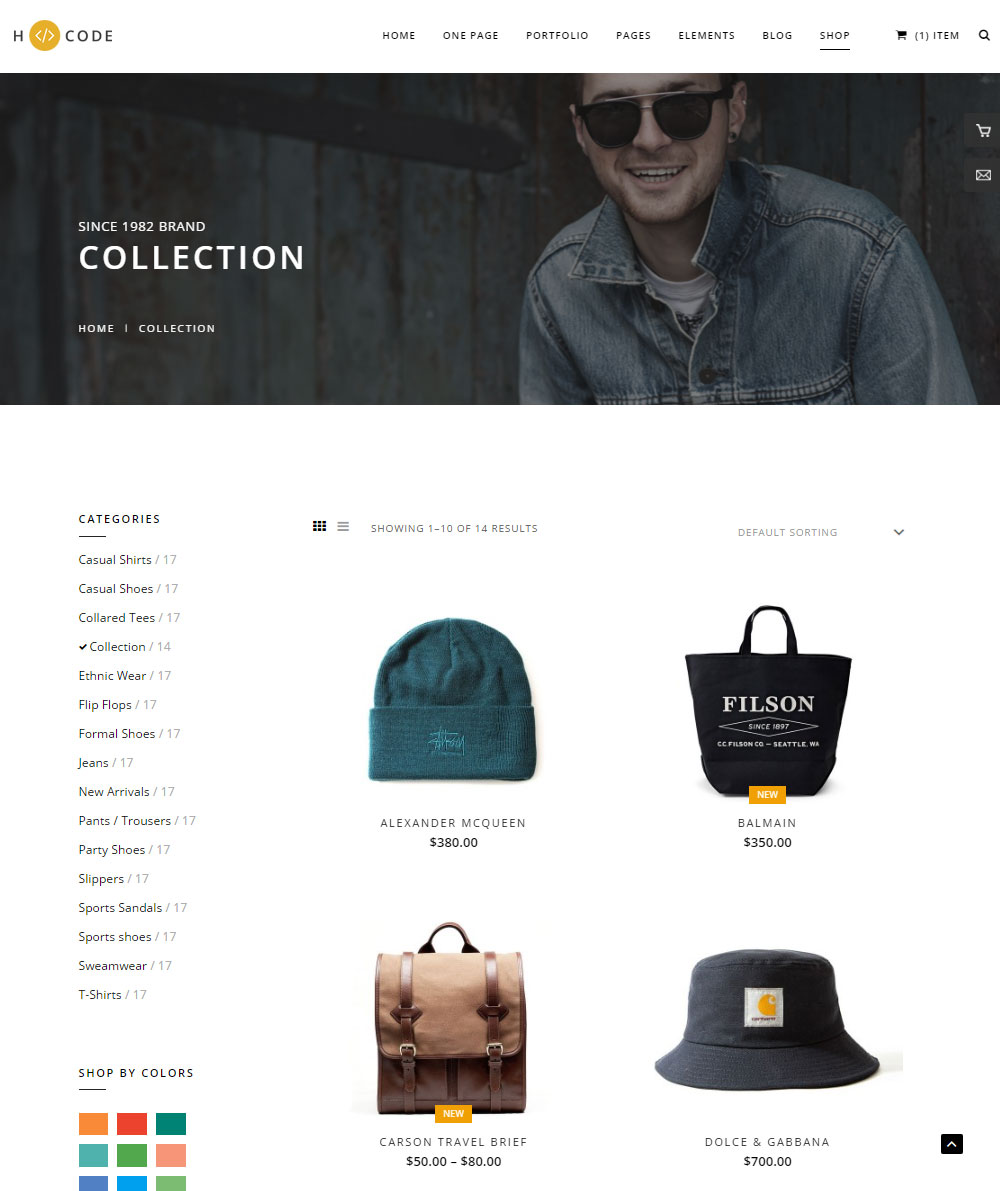 H-Code Theme Review Ecommerce Products
