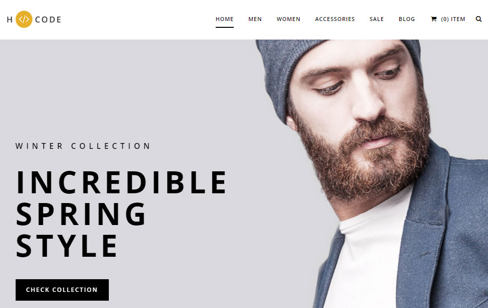 H-Code Theme Review Ecommerce