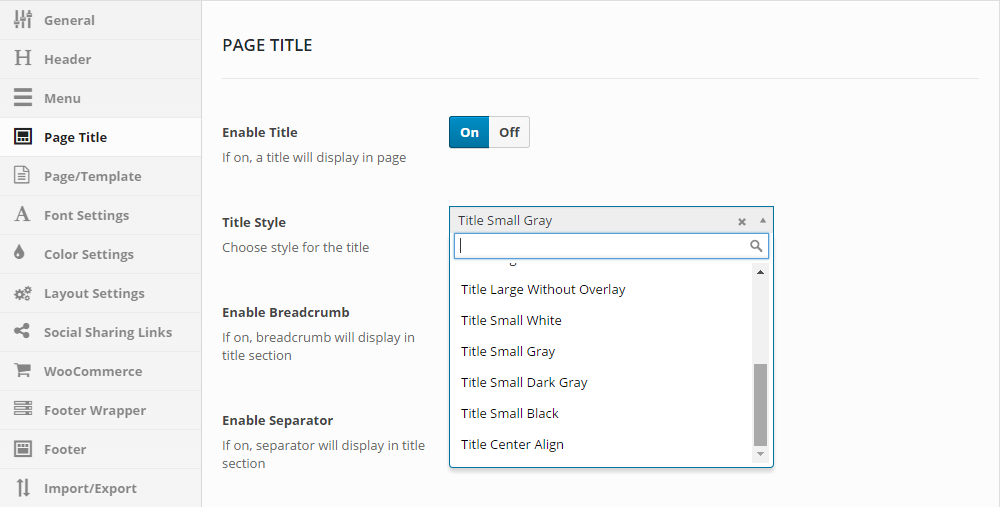 H-Code Theme Review Page Titles