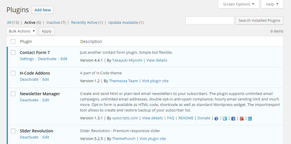 H-Code Theme Review Plugins