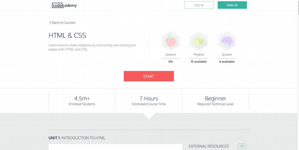 HTML CSS Codecademy
