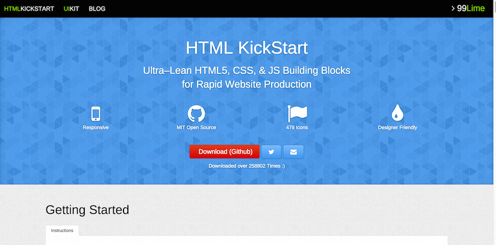 HTML KickStart HTML Elements Documentation