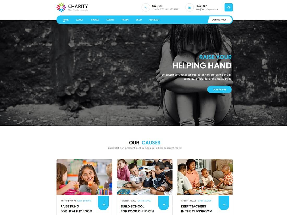 22 Best Premium HTML Charity Website Templates 2019