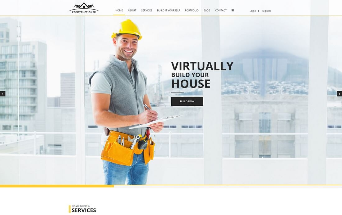 HTML construction and architect company template