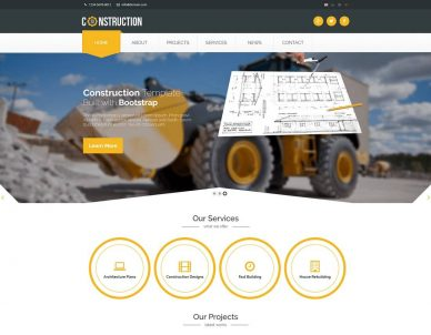 HTML Construction Company Templates