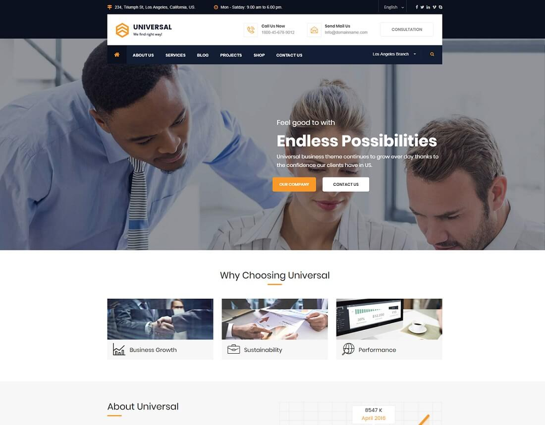 HTML Financial Website Templates