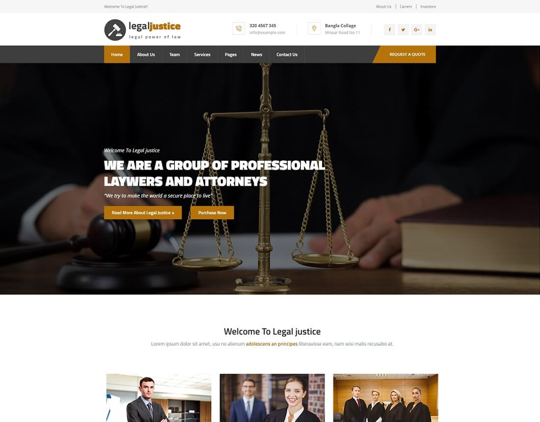 HTML Lawyer Website Templates