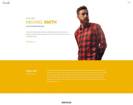 HTML Resume Cv Website Templates