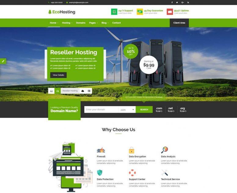 HTML Web Hosting Website Template