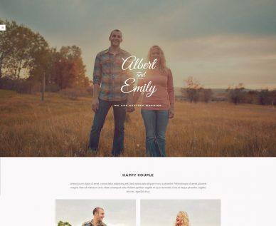 HTML Wedding Website Templates