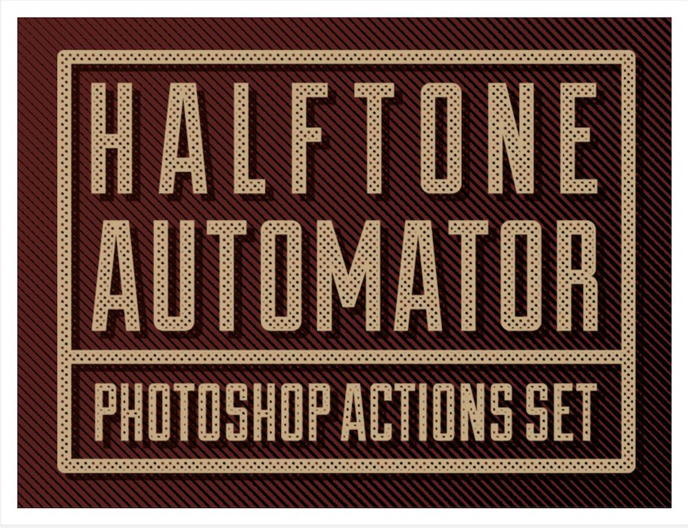 Halftone Automator Photoshop Action Set