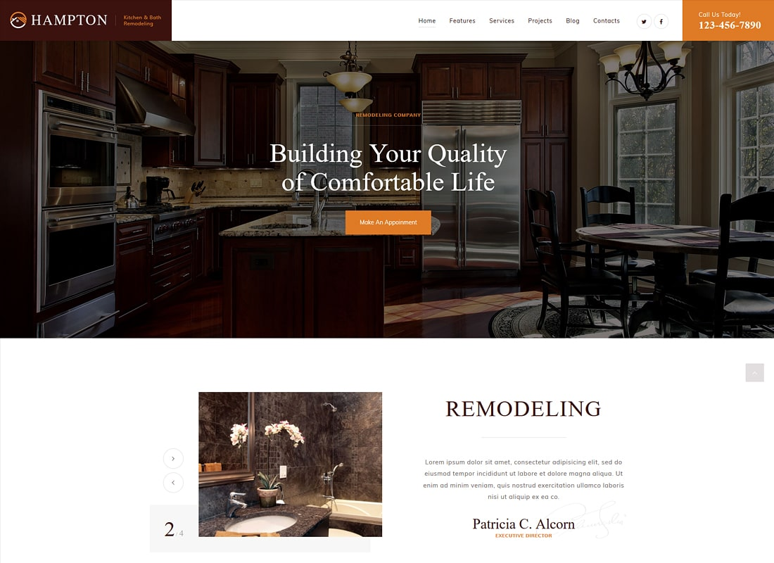 Hampton | Home Design and House Renovation Luxury WordPress Theme
