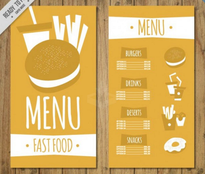 Top Free Restaurant Menu PSD Templates In Colorlib - Take out menu template free