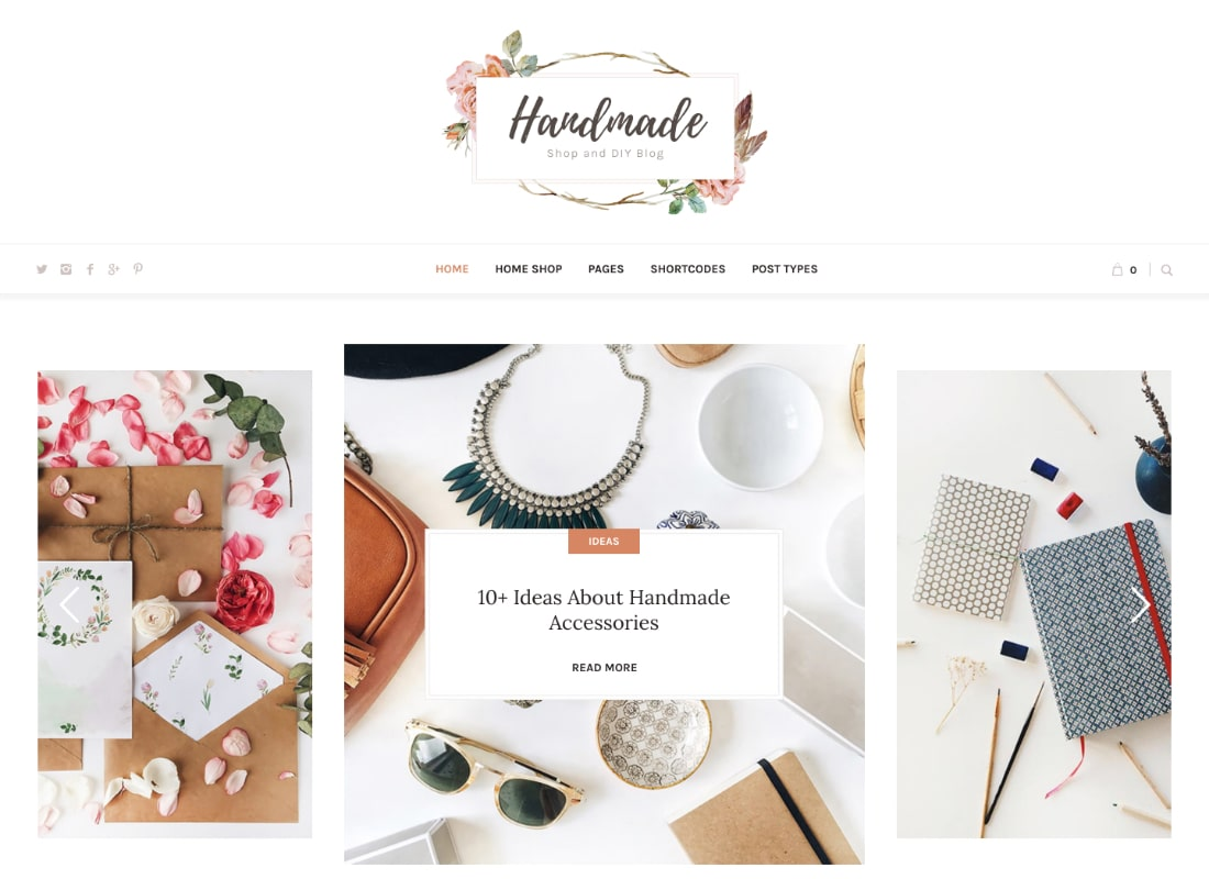Handmade Shop | Handicraft Blog & Creative Shop WordPress Theme