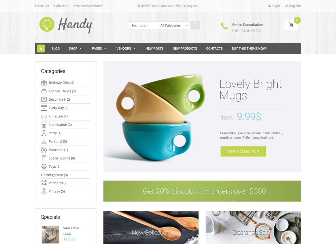 Handy | Handmade Shop WordPress WooCommerce Theme