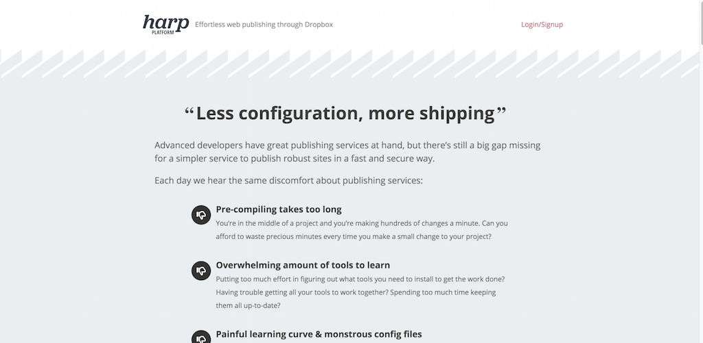Harp Platform — Effortless web publishing through Dropbox