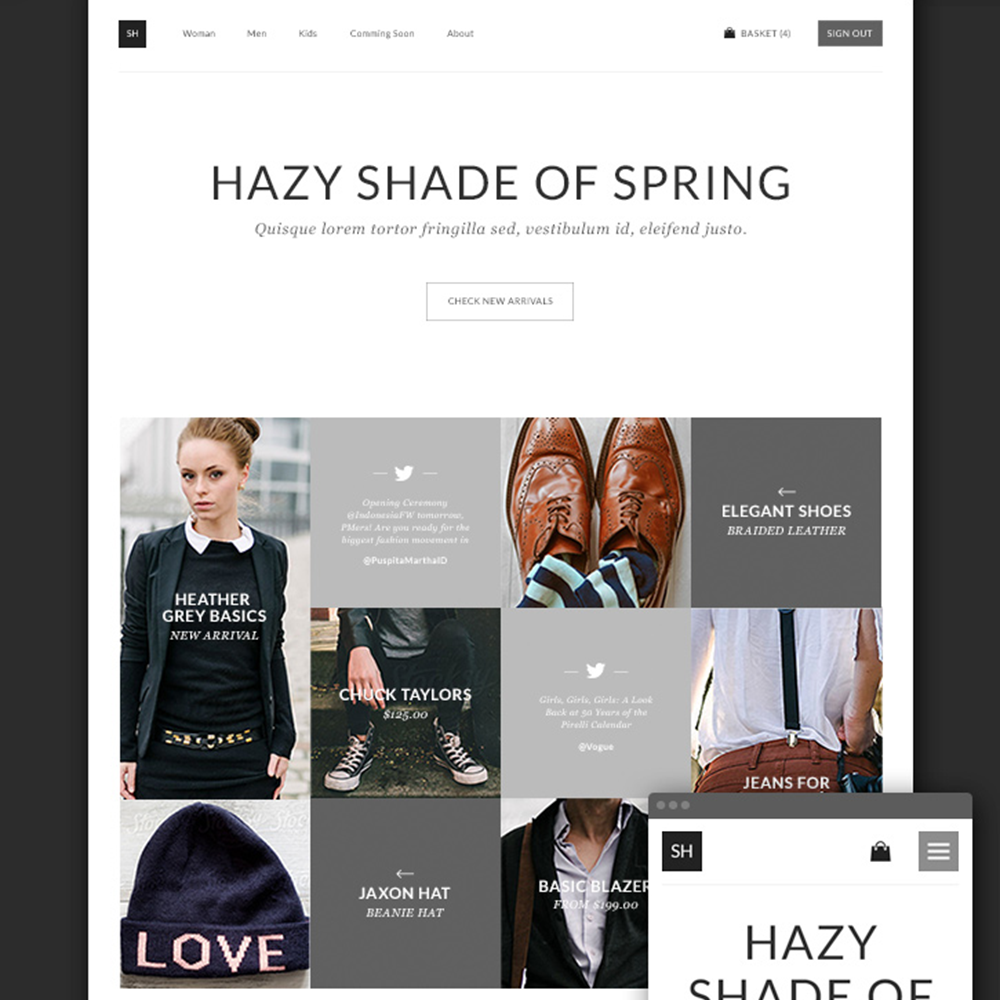 HazyShade Free PSD eCommerce Template