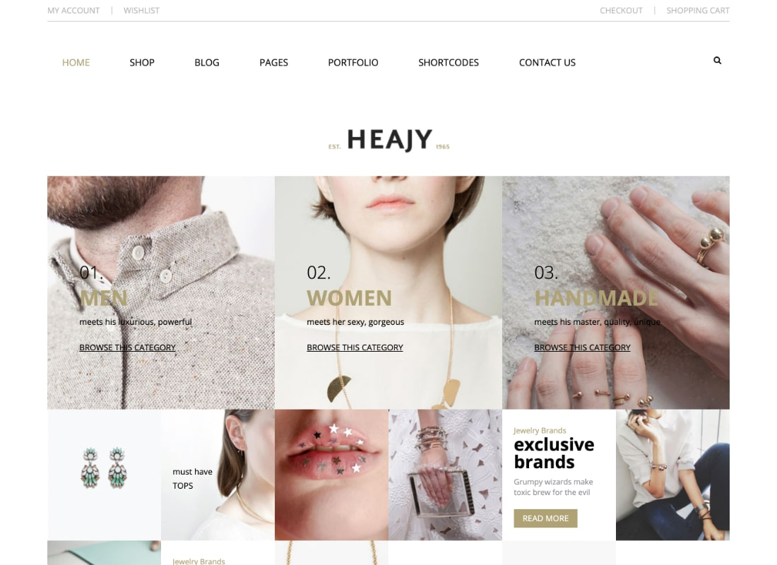 Heajy | Handmade Fashion WordPress Theme