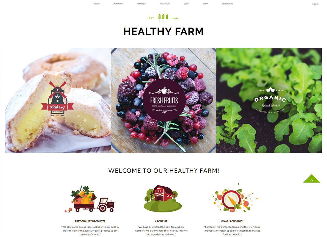 Healthy Farm - Food & Agriculture WordPress Theme