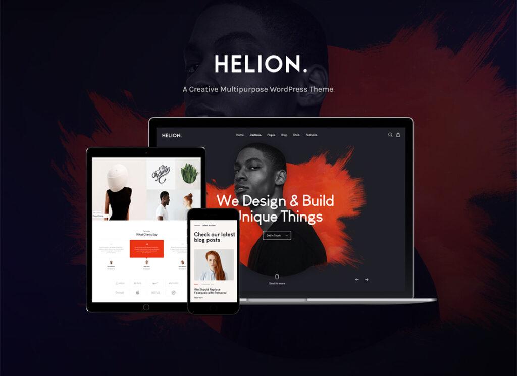 Helion Personal Creative Portfolio WordPress Theme + Store min