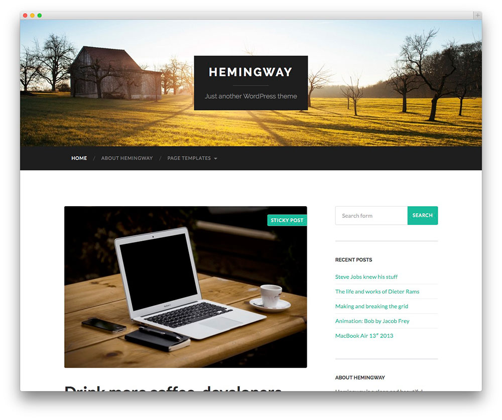 Surprising 50 Best Free Responsive Wordpress Themes 2017 Colorlib Largest Home Design Picture Inspirations Pitcheantrous