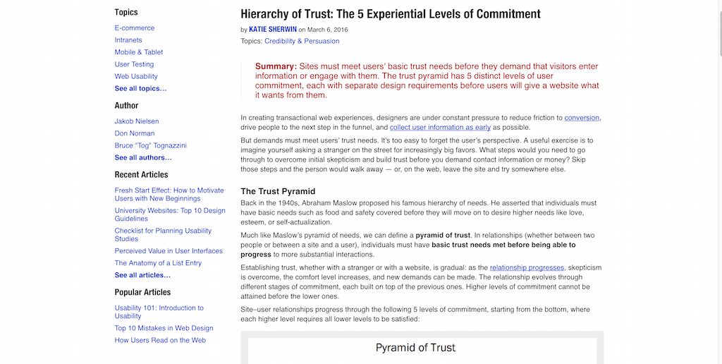 Hierarchy of Trust