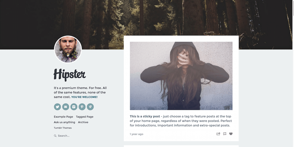 Top 30 Best Highly Flexible And Free Tumblr Themes 2017