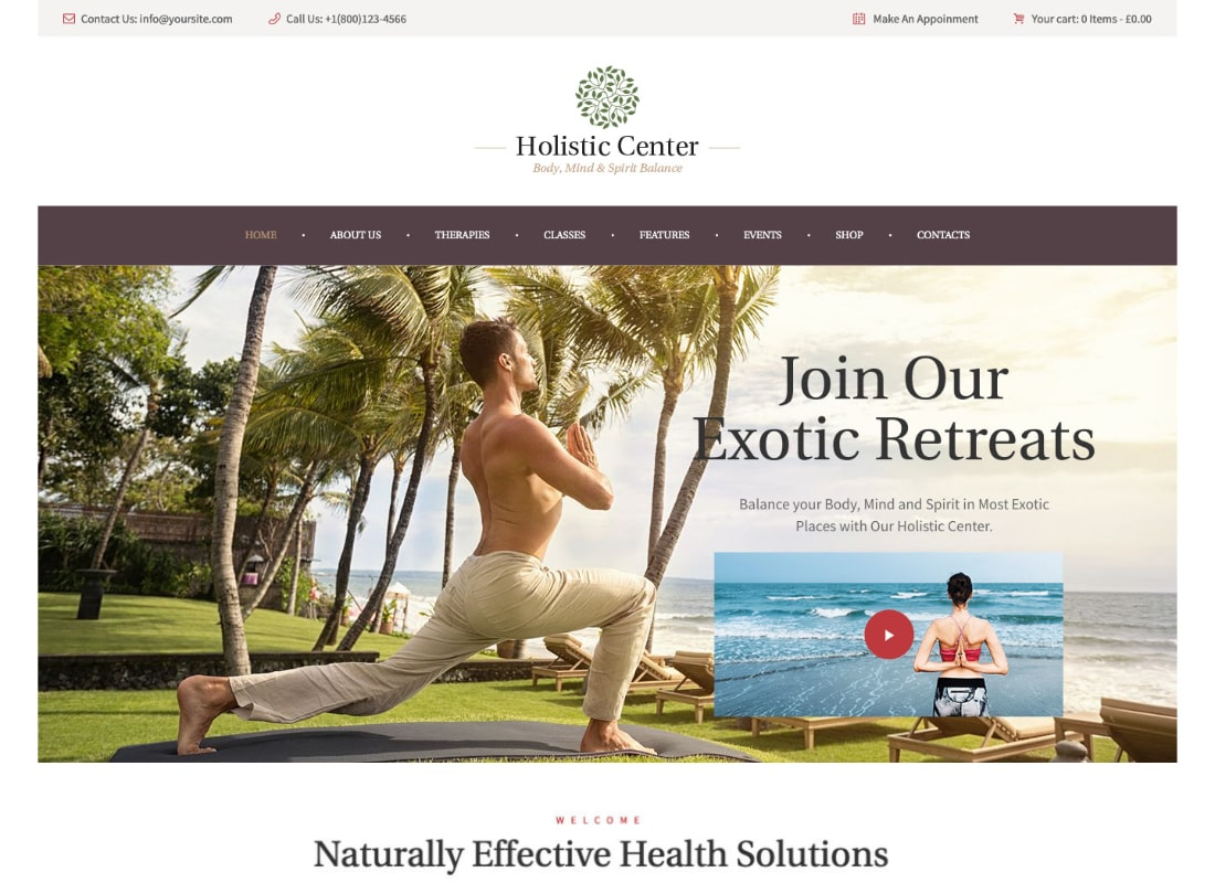 Holistic Center | Wellness and Spa WordPress Theme