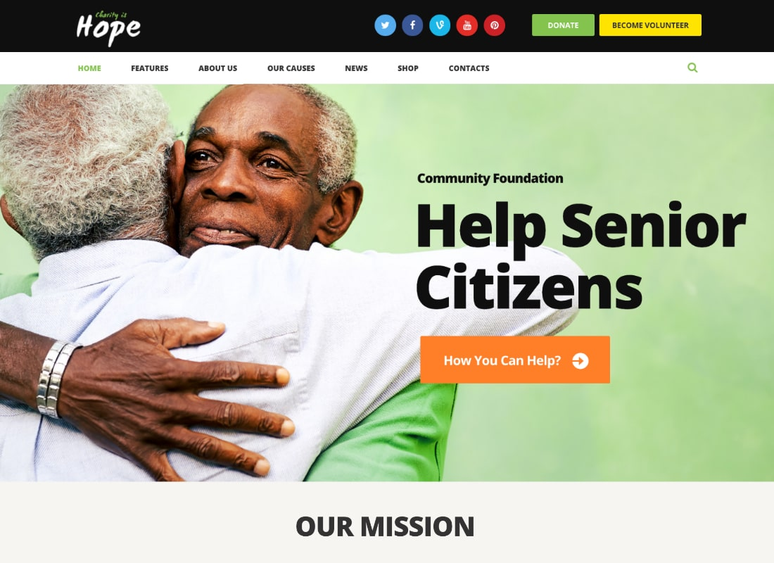 Hope | Non-Profit, Charity & Donations Site Template