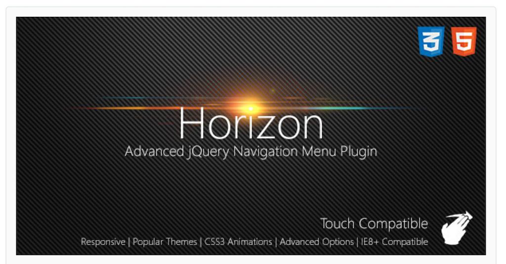 Horizon Slide Navigation jQuery Plugin