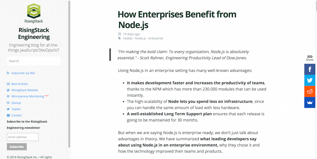 How Enterprises Benefit from Node.js