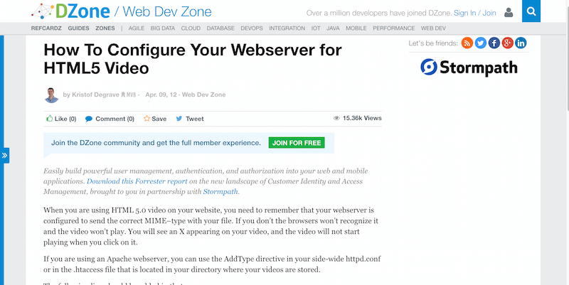 How To Configure Your Webserver for HTML5 Video