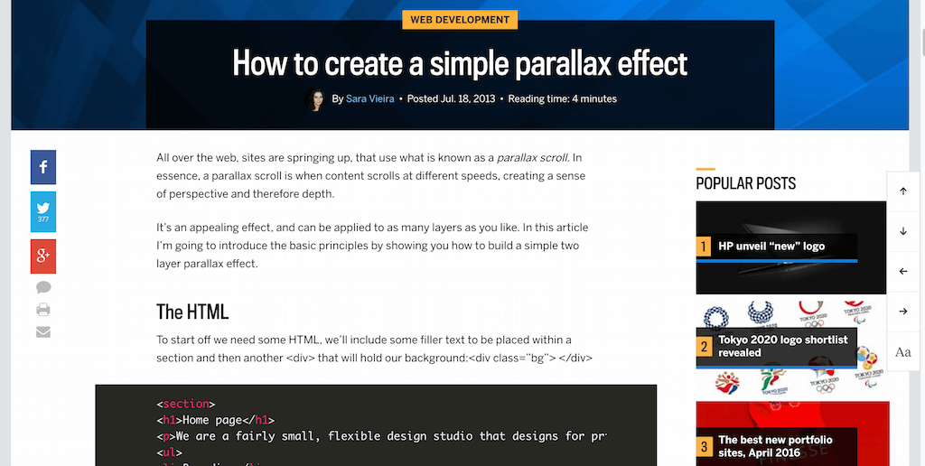 How To Create A Simple Parallax Effect Webdesigner Depot