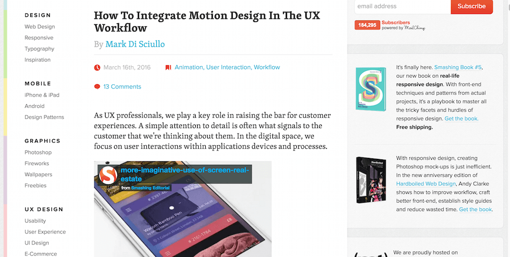 How To Integrate Motion Design In The UX Workflow