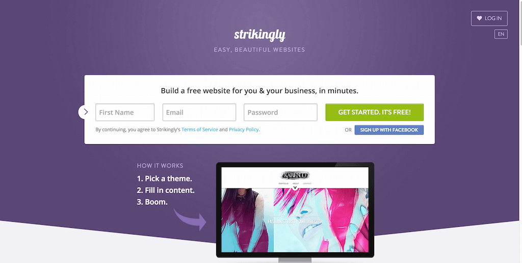 How To Make Your Own Website Best Website Builder Strikingly