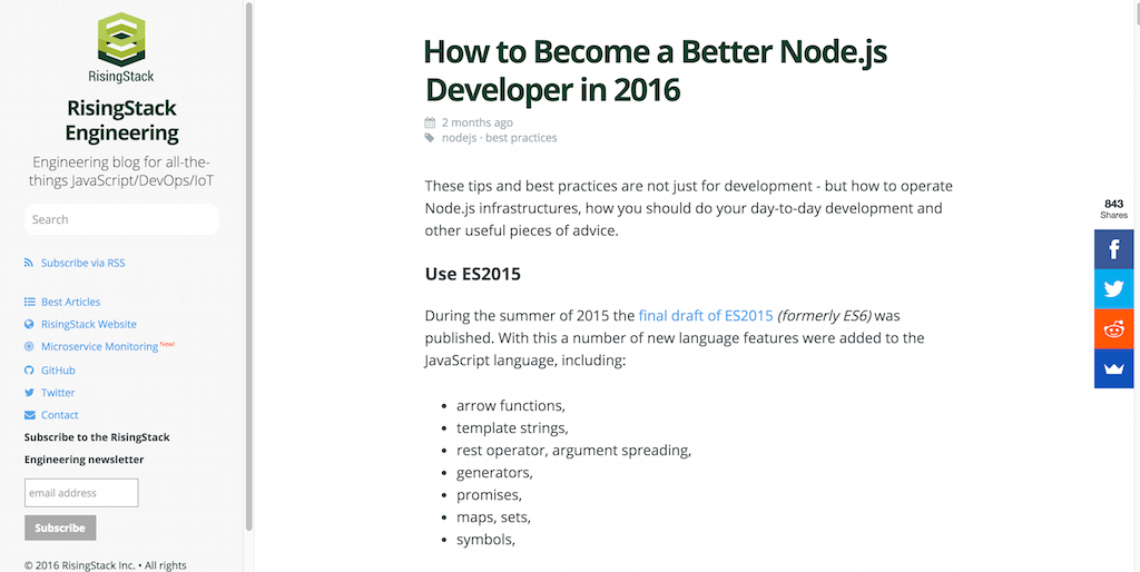 How to Become a Better Node.js Developer in 2016