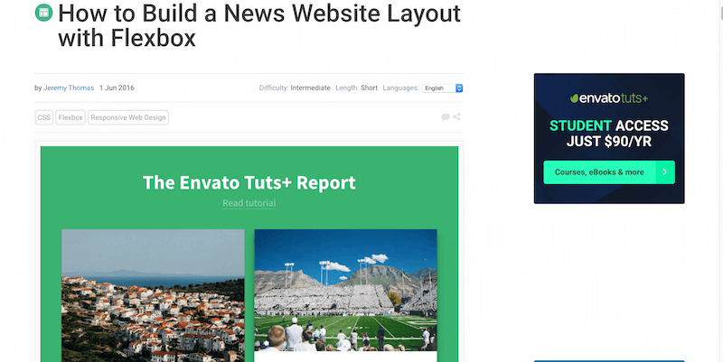 How to Build a News Website Layout with Flexbox