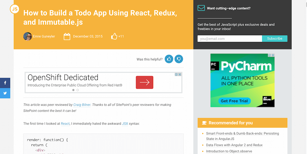 How to Build a Todo App Using React Redux and Immutable.js