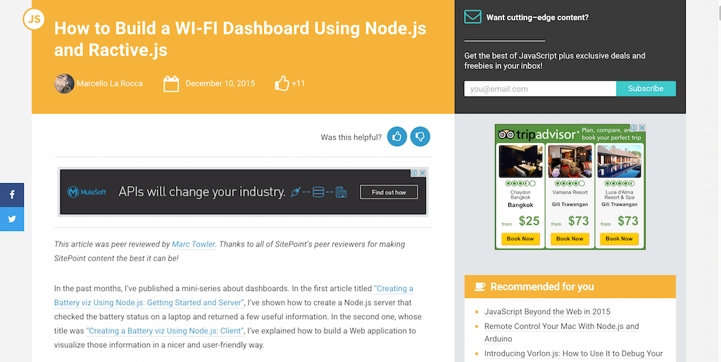 How to Build a WI-FI Dashboard Using Node.js and Ractive.js